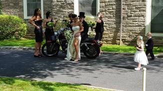 motorcycle bride